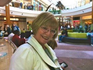 Grannie The Geek Waiting For The IPad 2. Seated! Mall At Millennia