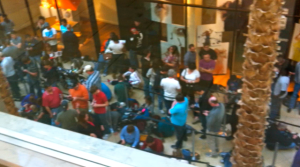 The View From Above: Waiting For The IPad 2 At The Millennium Mall In Orlando Florida
