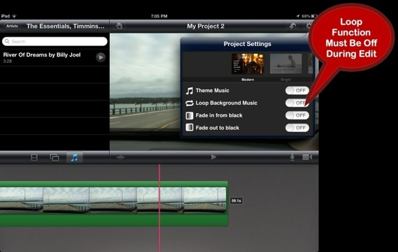 how to add music to imovie app